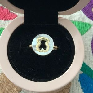 Tous Mother of Pearl and 18K Yellow Gold Ring